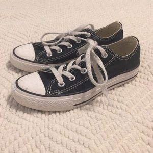 Youth Converse Chuck Taylor All Star Black Low Top